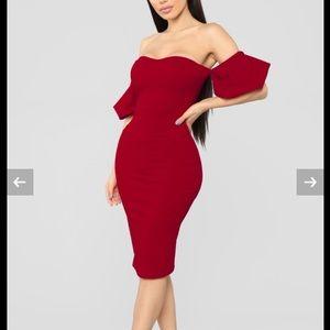 Fashion Nova Lets go out off shoulder dress